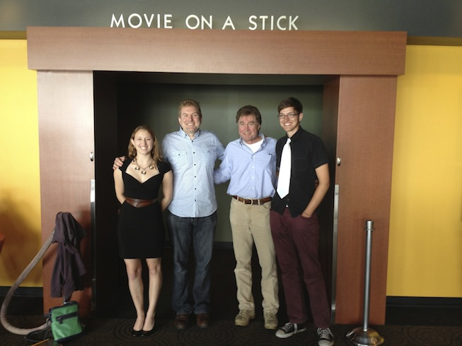 Katrina, Todd, Randy & Jeff posing by the theater entrance