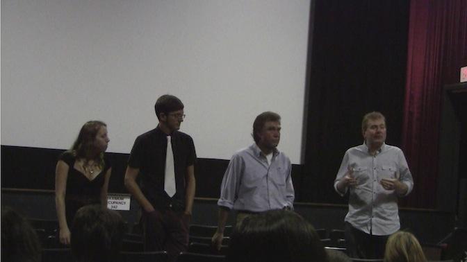 Katrina, Jeff, Randy & Todd addressing audience after film