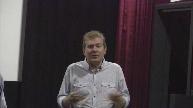 Todd talks during Q&A